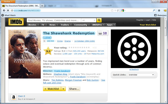 Screenshot IMDb film